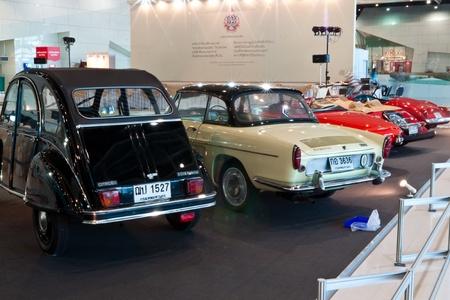 BANGKOK-DEC 01: Mostra auto d'epoca al Thailand International Motor Expo 2011 Dicembre 01 - a Bangkok, Thailandia