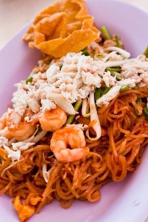 thai food Pad thai , Stir fry noodles with shrimp photo