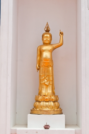 golden buddha statue of thailand photo