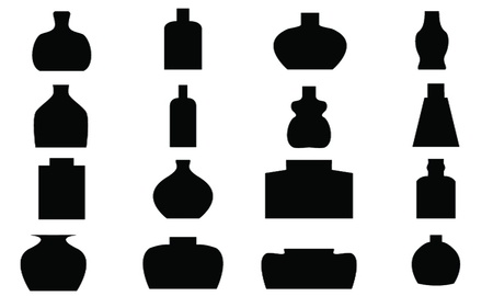 Bottle Icon with White Background  Vector