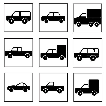 car icons Stock Vector - 21423123