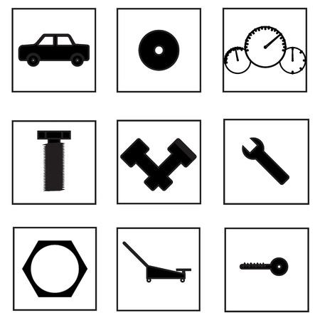 screw jack: Auto parts icon
