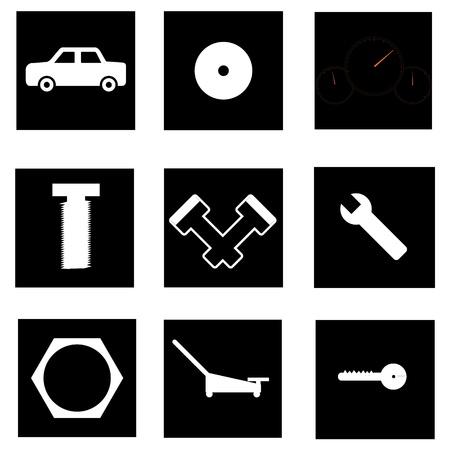 Auto parts icon Vector