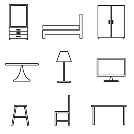 furniture icons set Stock Vector - 21423164