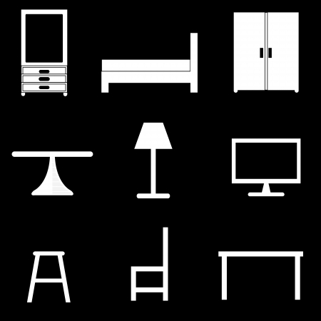 furniture icons set Stock Vector - 21423165