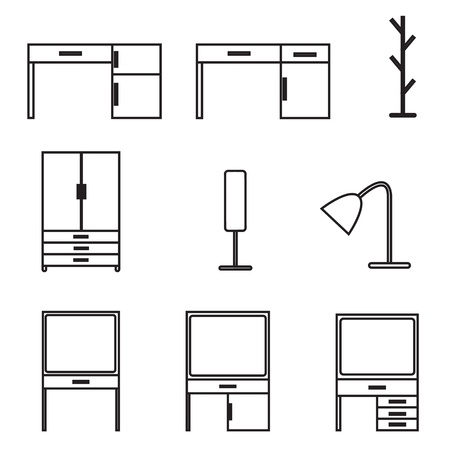 furniture icons set Stock Vector - 21423167