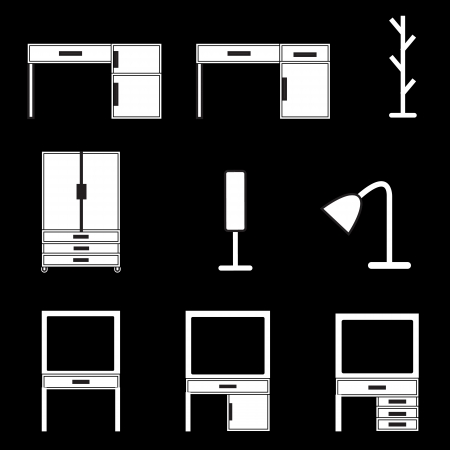 furniture icons set Stock Vector - 21423168