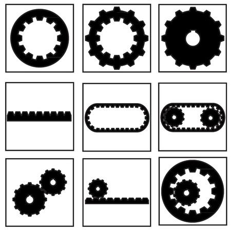 gear collection icon Stock Vector - 21423169