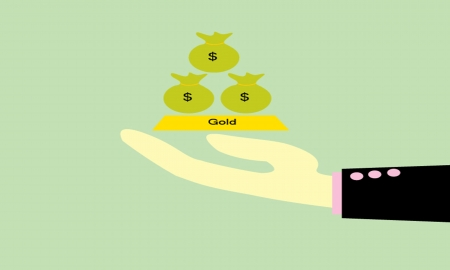 give money: give  money bag and Gold