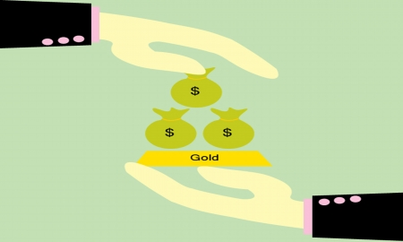 give  money bag and Gold Vector