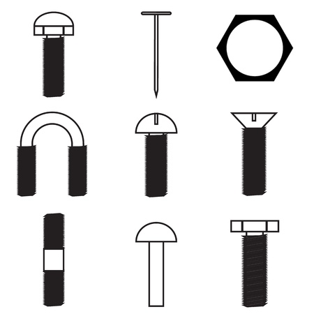 Set of screws icon Stock Vector - 21423209