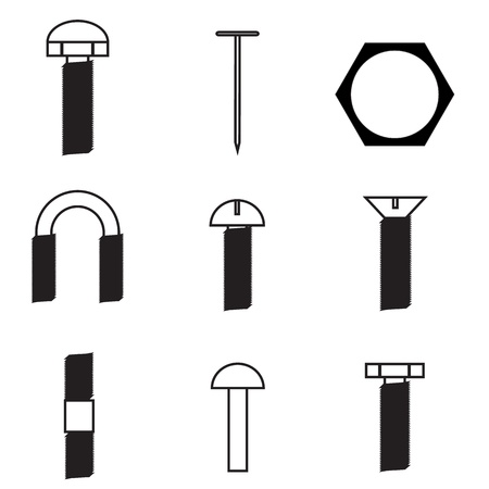 fasteners: Set of screws icon
