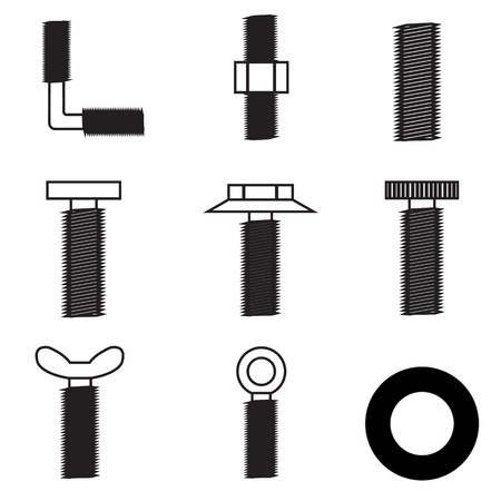 Set of screws icon Stock Vector - 21423213