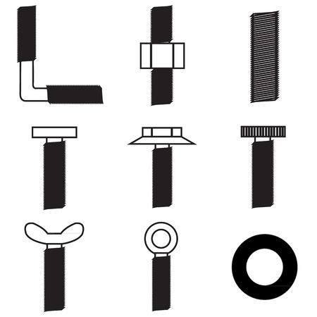 Set of screws icon Stock Vector - 21423218