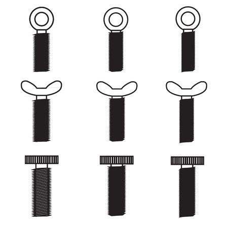Set of screws icon