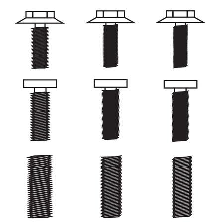Set of screws icon Stock Vector - 21423224
