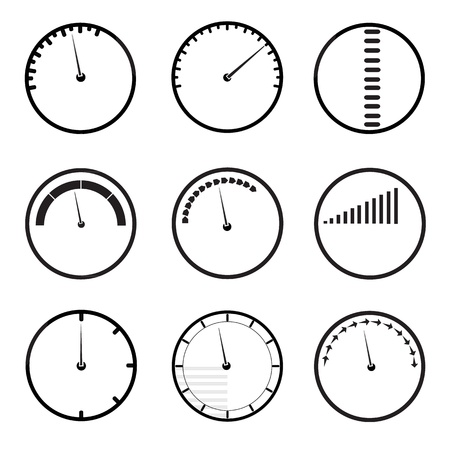 gauges icons set Stock Vector - 21420908