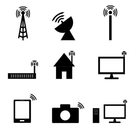 signal strenght: Wireless technology icon