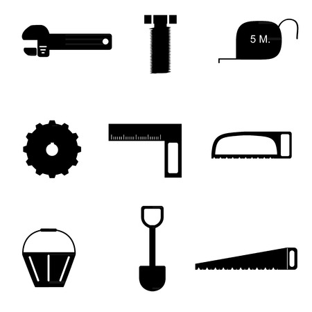 tools icon set Vector