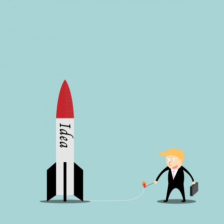 Businessmen are missiles ideas  Vector