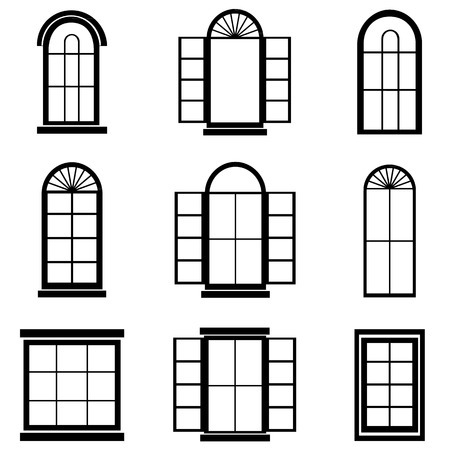 residential homes: Window vector Illustration