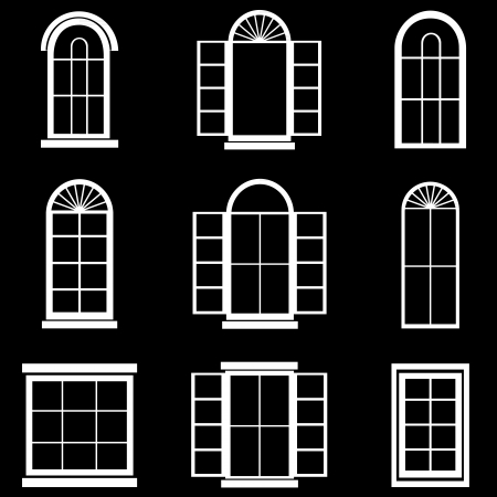 window view: Window vector Illustration