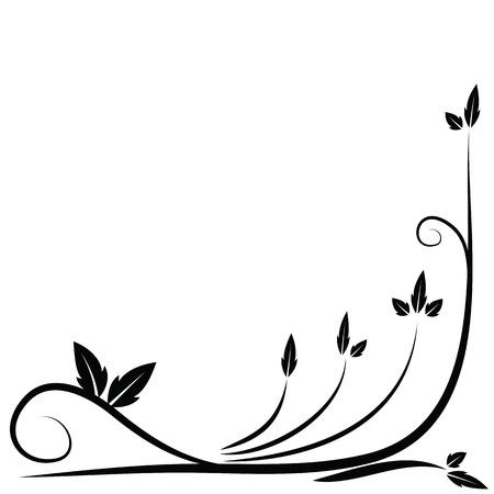 twirl: Borde negro Floral