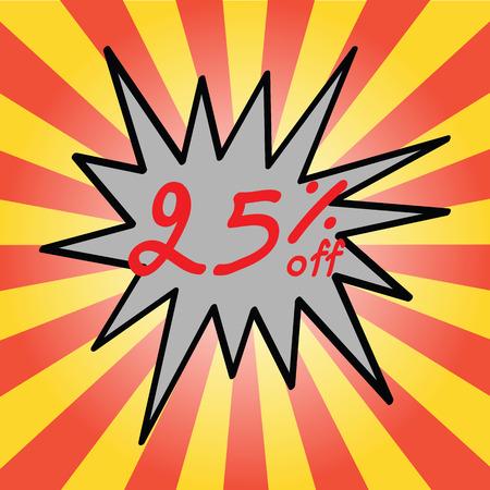 25: Sale 25% text