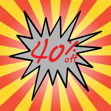 40: Sale 40% text