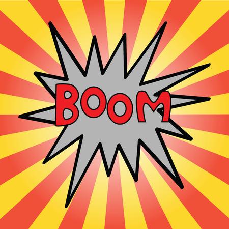 Boom - Comic Speech Bubble Vector