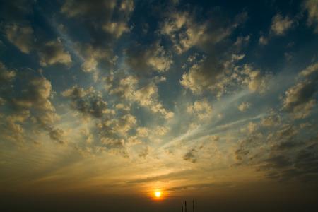hdri: Sunset  sunrise with clouds