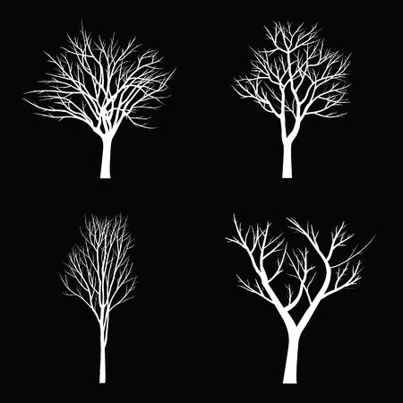 Árboles con rama muerta Ilustración de vector