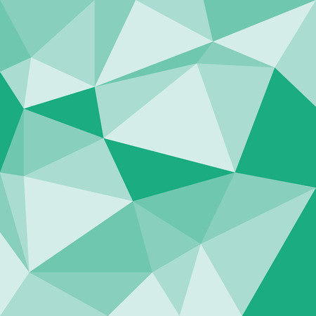 occlusion: Abstract green 3d interior with polygonal pattern on the wall