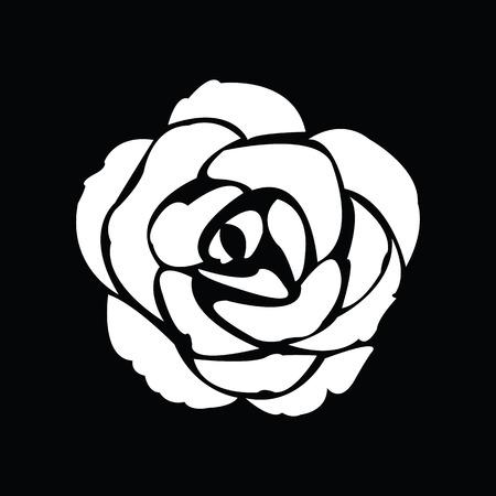rosas negras: Negro silueta de la rosa Vectores
