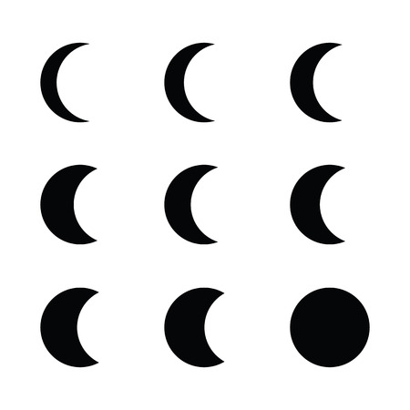 moon phases: Moon phases