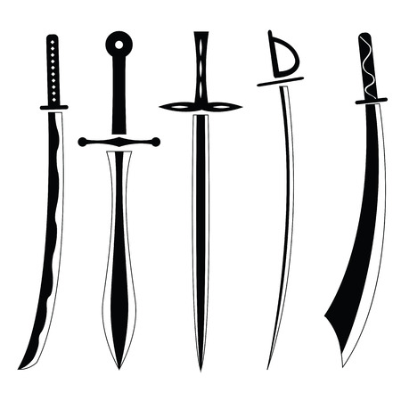 longsword: Icon set of ancient swords.