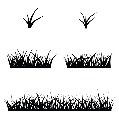 pastoral: black  silhouette of grass
