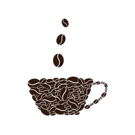 black: Vector black coffee icons