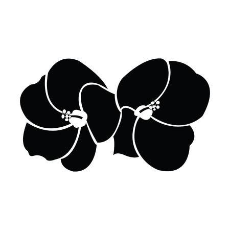 pistil: Hibiscus silhouettes vector