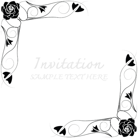 nuptials: Invitation card with floral pattern