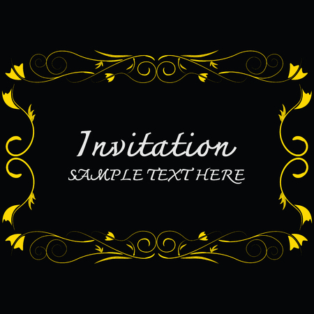 dinner date: Invitation card with floral pattern