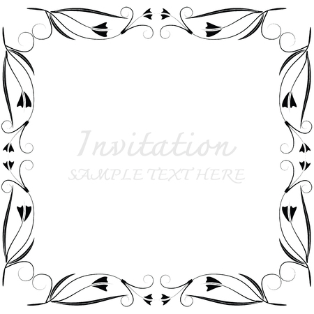 picture card: Vector decorative frames