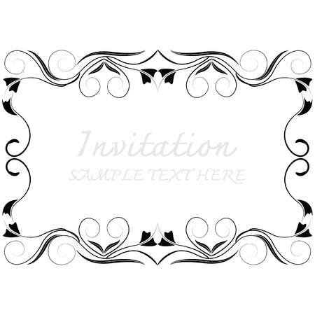 Vector decoratieve frames