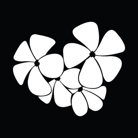 silhouettes: frangipani silhouettes for design vector Illustration