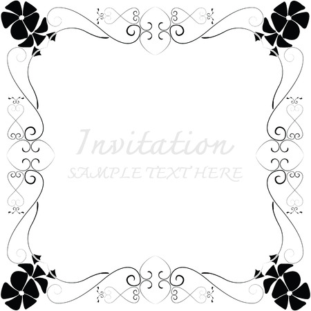 invitation with beautiful designs. Illustration