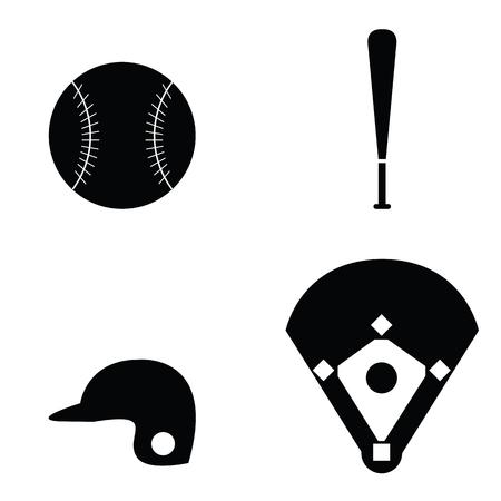 Baseball Icons set Illustration