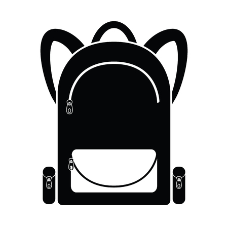 Trecking backpack icon