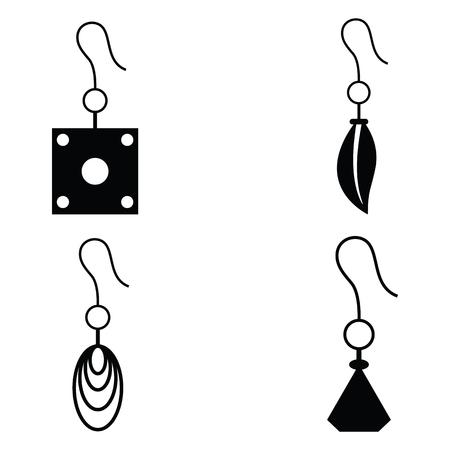 earrings: earrings icon set
