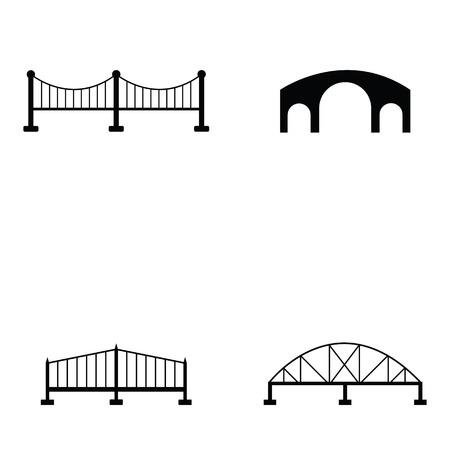 rope bridge: bridge icon set