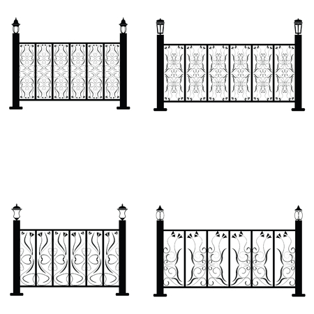 Fence vector icons set